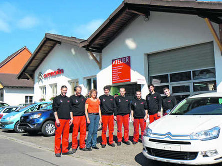 Schaffhauser nachrichten 30 jahre garage village garage for Garage citroen auch
